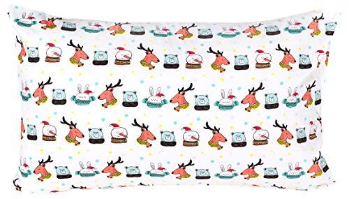 "J-pinno Spaceship Universe Adventure Cute Cartoon Pillowcase 100% Natural Cotton 20"" X 30"" for Kids Toddler Boys Girls Bedding Decoration (1)"