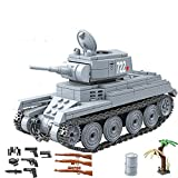 General Jim's Army Toys - WW2 Tank Building Kit - BT-7 Calvary Russian Army Tank Building Blocks Model Toy Tank Set Kit