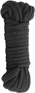 Doc Johnson Japanese Bondage Rope - Soft Cotton Rope - Gentle on the Skin - 32 Feet of Rope - Black