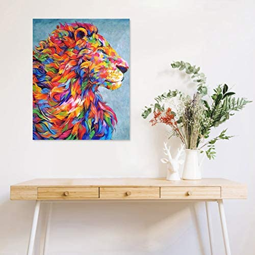 Abstract lion painting _image4