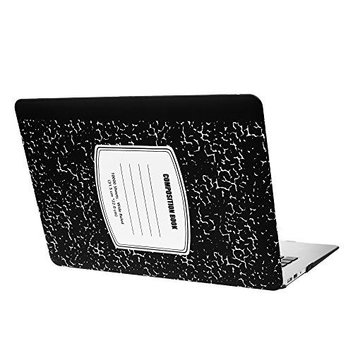 Case Star MacBook Air 13 Inch Case Cover A1369 A1466 Laptop Plastic Hard Case Composition Notebook Series Pattern Laptop Hard Shell Case Cover (Old Version 2010-2017) -Black