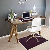 OfficeMarshal Alfombra de Color para Silla - Alfombrilla Protectora Suelo | Alfombra oficinas PP | Multiuso | Muchos Colores y tamaños (Morado, 75x120 cm)