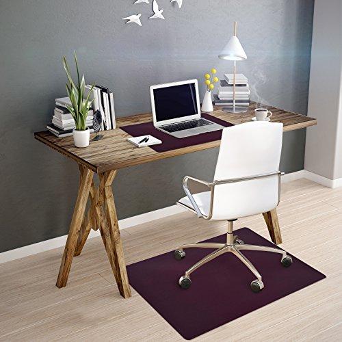 OfficeMarshal Alfombra de Color para Silla - Alfombrilla Protectora Suelo | Alfombra oficinas PP | Multiuso | Muchos Colores y tamaños (Negro, 90x120 cm)