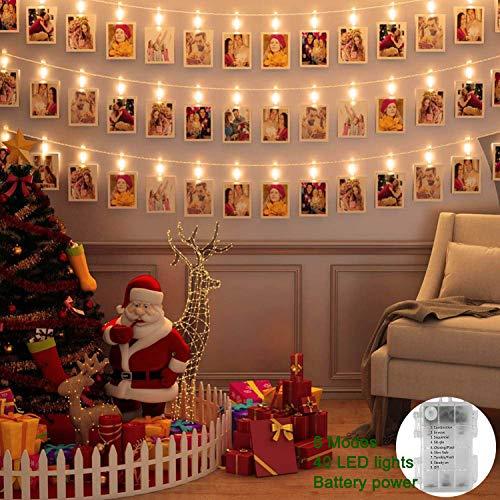 LED Photo Clip Lights 40 pcs LED Picture Lights Battery...