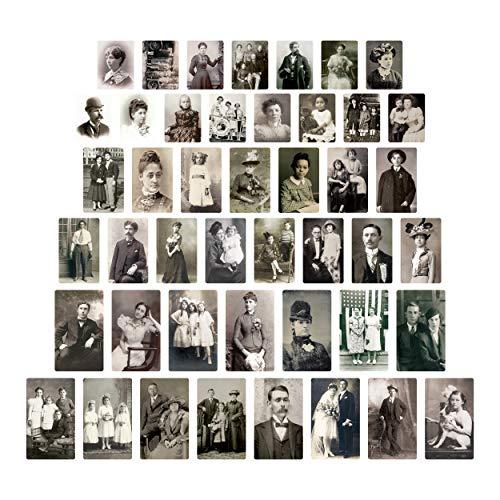 Tim Holtz Advantus Found Relatives Vintage Portraits, schwarz und weiß