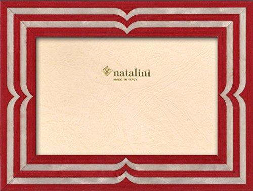 Natalini, BELLAGIO ROSSOBIANCO 10X 15 cm, Bilderrahmen mit Unterstützung für Tisch, Holz, Rot, äußere Ausmaß 15 X 20 X 1,5 cm