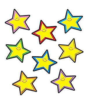 Carson Dellosa – Stars Yellow Colorful Cut-Outs Classroom Décor 36 Pieces