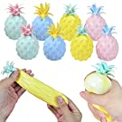 QYCX Sensory Toys-8 PCS Bundle Pineapple Anti Stress Balls, Fruit Squeeze Sensory Ball Fidget Toys Stress Anxiety Relief Tools Pressure Squishy Simulation Pineapple Sensory Stress Relief Balls for Kids Adults ADHD Globules Stress Relax Balls Pressure Release Party Gifts