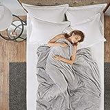 Gewichtsdecke für Erwachsene Therapiedecke Schafdecke Schwer Weighted Blanket Schwere Decke mit abnehmbaren Warm Fleece und Coolmax Bezüge, 150x200cm, 6.8kg