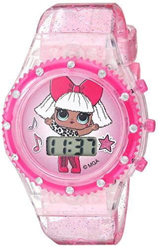 L.O.L. Surprise! Girls' Quartz Watch with Plastic Strap, Pink, 16.2 (Model: LOL4029AZ)