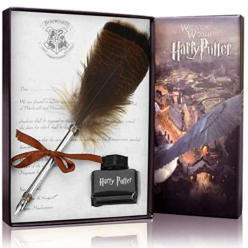 Ensemble de stylo plume et encrier de style ancien et rétro pour calligraphie, pour les fans de Harry Potter Stylo plume hibou
