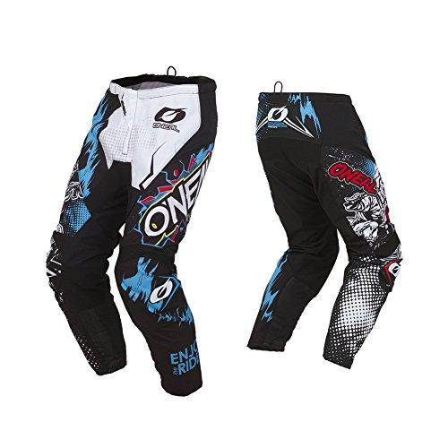 O'NEAL | Motocross-Hose | Kinder | MX Enduro | außergewöhnliche Bewegungsfreiheit, Vollständig gefüttert, Polster aus Gummi für zusätzlichen Schutz | Element Youth Pants Villain | Weiß | Größe 24