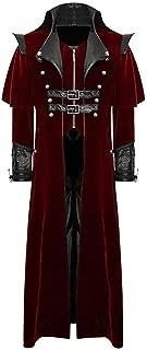 PASATO New Men's Print Coat Tailcoat Jacket Gothic Frock Coat Uniform Costume Party Outwear Clearance Sale!