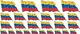Mini conjunto de banderas que sopla - 4x 51x31mm+ 12x 33x20mm + 10x 20x12mm- autoadhesivo - Venezuela - Autoadhesivas - tatuajes de la bandera - para el coche, Oficina y Hogar - Set of 26