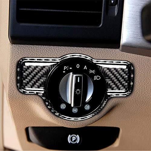 PoeticHouse Kohle Faser Scheinwerfer Schalter Dekoration Modifizierte Aufkleber Schalter Rahmen Dekoration Aufkleber für Mercedes A B C E G Klasse CLA GLA GLE GLK GL