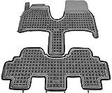 Rezaw-Plast Alfombrillas de Goma Compatible con Peugeot 807 (2002-2014) + Limpiador de Plasticos (Regalo) | Accesorios Coche Alfombrilla Suelo