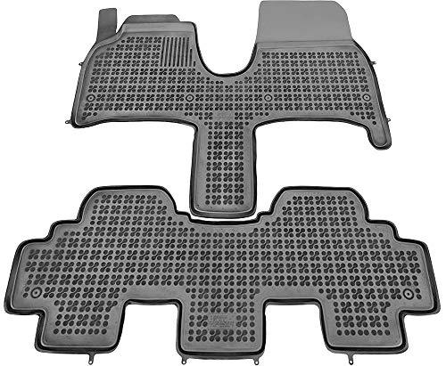 Alfombrillas de Goma Compatible con Peugeot 807 (2002 - 2014) + Limpiador de Plasticos (Regalo) | Accesorios Coche Alfombrilla Suelo