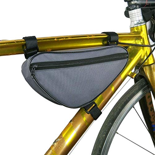 ANXIANG Bicycle Carrier Package, Bicycle Package Saddle Bag car Front Pipe Package Detachable Triangle Front Upper Pipe Package Accessories Mountain Bike Riding Essential (Color : Gray)