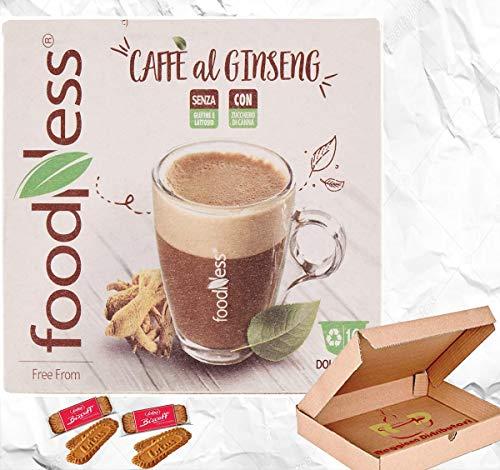 Capsula FoodNess Caffè al Ginseng Compatibile Dolce Gusto Senza Glutine, Lattosio Con Zucchero Di Canna (4 box Tot. 40 Capsule) Il Più Venduto.