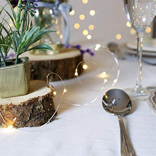 Guirnalda Luces Pilas, Luces Led Pilas, Luces De Navidad, Luces de Hadas para Decorativas, Navidad, Habitacion,...
