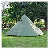 AIYISITELU Tienda Ultraligera pirámide 3-4 Persona Senderismo al Aire Libre Camping Tipee Tolding Shelter con Estufa Jack para Invierno Cocina Aves de Aves XUANMAIQUQI (Color : Green)