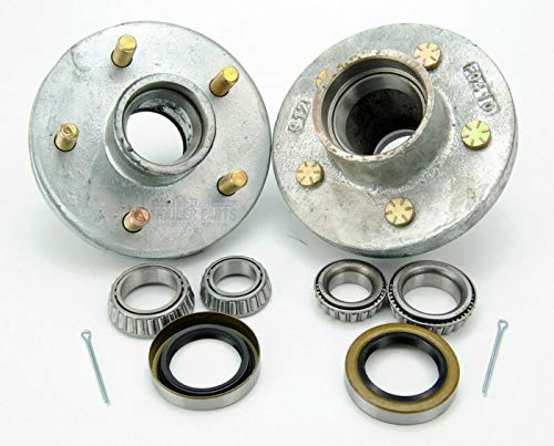 2X Boat Trailer Hot Dipped Galvanized 3500lbs Hub 5 Bolt Lug with Bearing Kit | AFI Outlet