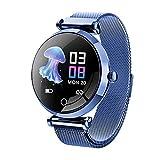 Reloj inteligente para mujer, pulsera inteligente con pantalla táctil de acero inoxidable, reloj inteligente con recordatorio menstrual femenino, contador de pasos de ejercicios múltiples para ejercicios al aire libre
