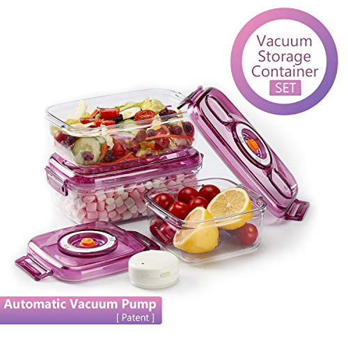 Vacuum Food Storage Containers with Lids