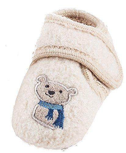 maximo 75203 - Baby Lauflernschuhe Bär ABS Schuhe aus Wolle Babyschuhe (17/18)