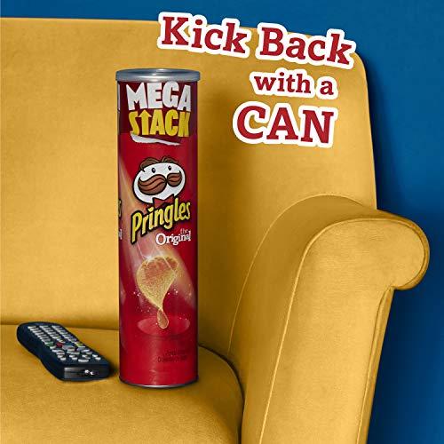 PringlesPotato Crisps Chips, Original Flavored, Mega Stack, 6.8 oz Can