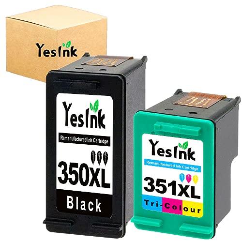 350 351 Sustitución para tinta Cartuchos HP 350 y 351 HP 350-351 HP 350 351 xl HP 350XL 351XL Impresora HP 350 351 para Deskjet D4260 D4360 Officejet J5780 J6410 (1 Negro 1 Tricromia)