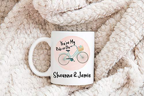 je mijn rit of sterven koffie mok op maat beste vriend vriendin cadeau fiets mok vrouw cadeau zuster cadeau grappige mok cadeau voor haar