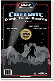 BCW Current Comic Book Backing Boards - (5 Pack) Comics, Comic Books Archival Storage Collecting Supplies