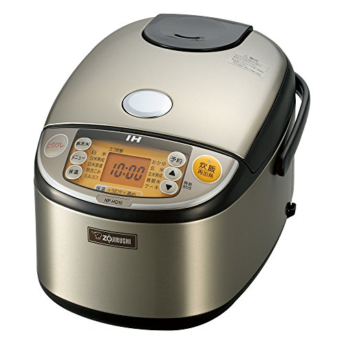 ZOJIRUSHI IH Pressure Rice Cooker 5.5 Cups Stainless Steel NP-HQ10-XA