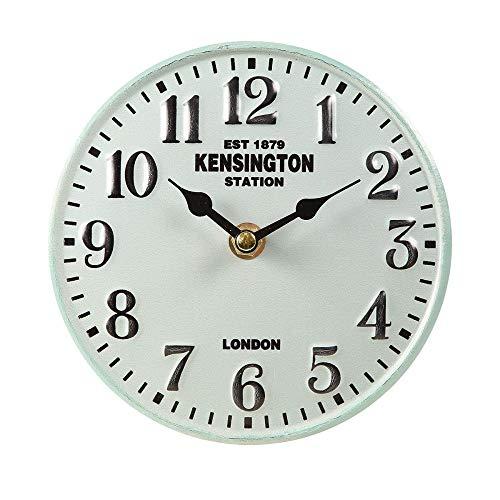 Ambiente Haus Tischuhr Metall Creme Nostalgie Vintage Uhr Ø 15cm Antikuhr Shabby