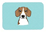 Caroline's Treasures BB1177MP Checkerboard Blue Beagle Mouse Pad, Hot Pad or Trivet, Large, Multicolor