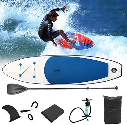 XIGG Tabla Hinchable de Paddle Surf, Tabla de Sup Board Stand Up con Remo de Ajustable Bomba Bolsa de Transporte Tabla de Paddle Surf Profesional,Blue
