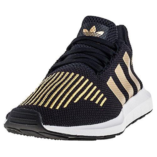 adidas Damen Swift Run W Laufschuhe, Mehrfarbig (Core Black/Gold Met./FTWR White), 38 2/3 EU