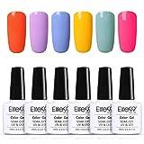 Elite99 Esmaltes Semipermanentes de Uñas en Gel UV LED 6 Colores de Macarrón Kit de Esmaltes de Uñas 004