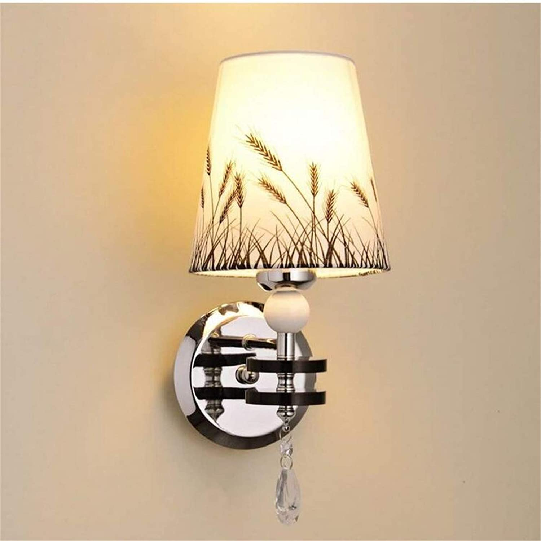 Led Wandleuchte Chandeliermodern Minimalist Stoff Schatten Wandleuchte Schlafzimmer Nachttischlampe
