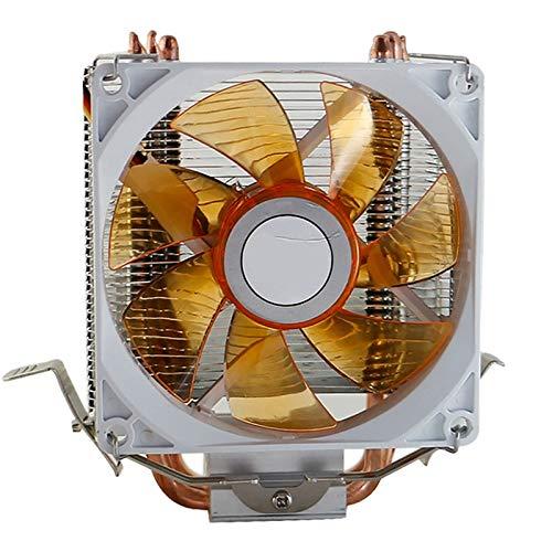 Fauge Radiador de Ventilador de CPU Multiplataforma de Computadora de Escritorio Ventilador de 3 Tubos de Calor LED Ventilador de CPU Accesorios de Computadora