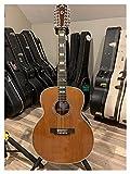 HQYYDS Guitarra Ebony F512 Lefty Guitar 12 Strings Acústica Electric Solid Guitar Guild Guild Style Guitarra acústica Izquierda Apto para Jugadores en Todas Las etapas. Instrumento Musical
