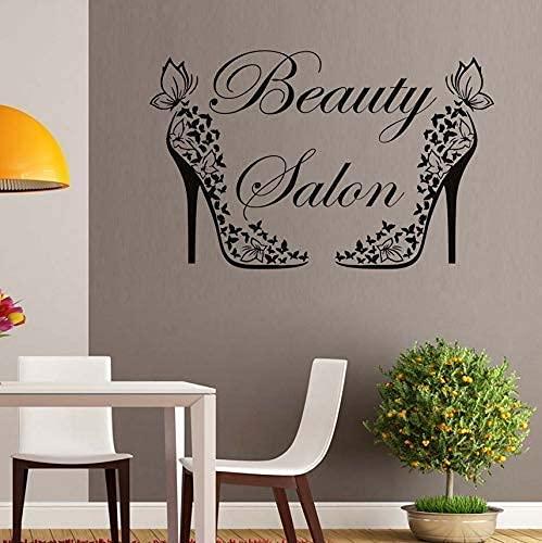 Salón De Belleza Zapatos De Mariposa Creativos Pegatinas De Pared Decoración De...