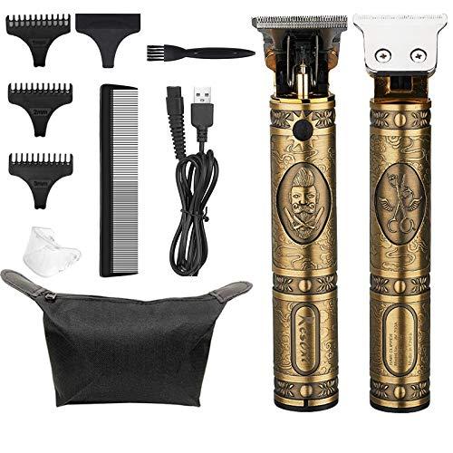 Cortapelos Eléctrica Hombres Profesional Cortapelo USB Recargable Barbero, Máquina Cortar Pelo Recortadora...