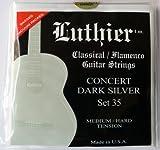 Luthier Concert Dark Silver - Set de 35 cuerdas de guitarra (nailon, tensión media/dura, para guitarra clásica)