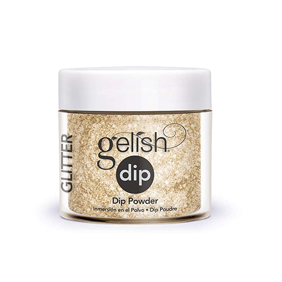 受付彫る山Harmony Gelish - Acrylic Dip Powder - All that Glitters is Gold - 23g / 0.8oz