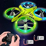 Dwi Dowellin Mini Drone for Kids with LED Lights One Key Take Off Landing Flips RC...