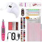 Prácticos Portátil Kit De Uñas Lámpara UV LED Seco Del Arte Del Clavo Del Sistema De Manicura De Uñas Acrílicas Herramientas,B