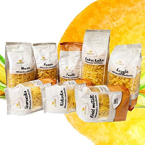 LoveDiet Maisnudeln | Glutenfrei | Vegan | 100% Mais Pasta | Glutenfreie nudeln aus Maismehl | Gluten Free | Ohne Zusätze | Alternative für Nudeln aus Maismehl | 8erPack(8x500g)