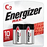Energizer Max C Batteries, Premium Alkaline C Cell Batteries (2 Battery Count)